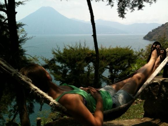 Relaxing at Casa del Mundo.